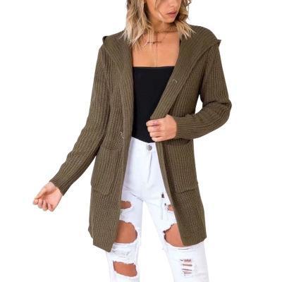 Le long cardigan des femmes de la mode-Eur Lady bandage de pull fendu sur le dos haut décontracté à manches longues surdimensionné manteau haut vêtements pour les ventes