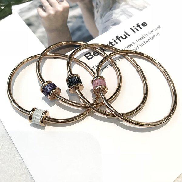 ENDELI joyería de moda 2019 Venta 4 colores simples pulseras de cristal pulsera de Swarovskis de la Mujer y Mujer
