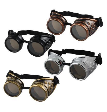best selling Party Favor 1000pcs new Unisex Gothic Vintage Victorian Style Steampunk Goggles Welding Punk Gothic Glasses Cosplay
