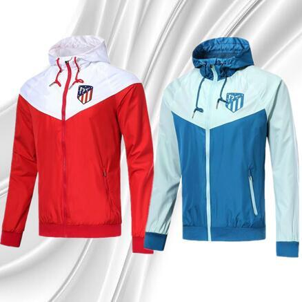 AAA 2018 Best Quality Atletico Jacket Adult Football Training Suit Sportswear 18 19 GRIEZMANN TORRES KOKE Madrid Football Jacket Set