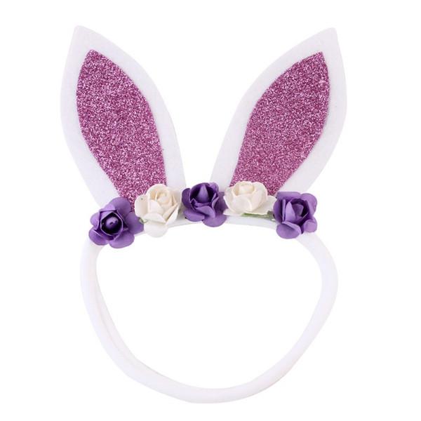 Cute Baby Girl Rabbit Ears Flowers Headband Wear Wedding Party Birthday Wear Accessori