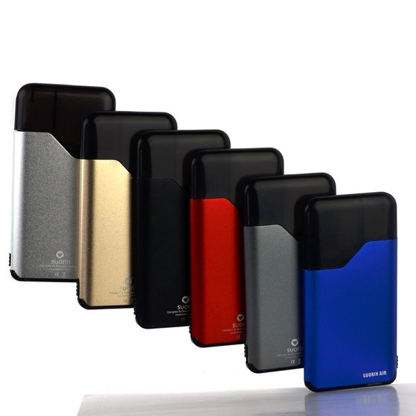 Suorin Air Starter Kits todo en uno con cartucho de 2 ml 400 mah Batería encendido-apagado Interruptor Diseño Cigarrillos electrónicos Ecigs Kit