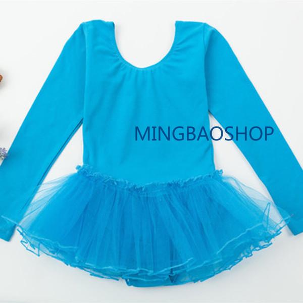 Ballet Dress for Kids Gymnastic Ballet Dress Summer Long Sleeve Lace Dancing Costume Leotards Tutu Skirt Professional