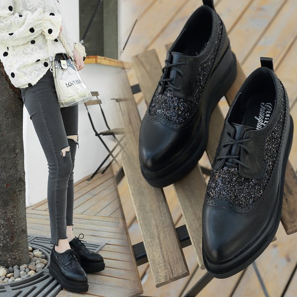 New Womens Casual Flatform Lace Up Trainers Glitter Creepers Comfy Shoes Sizes