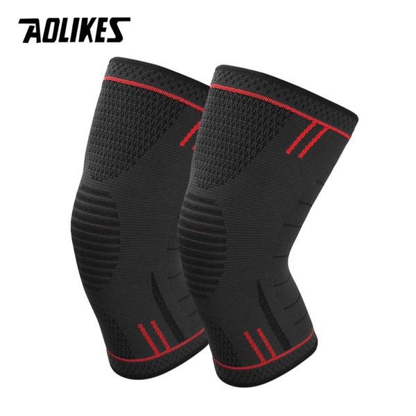 AOLIKES 1 Par de Silicone Não Slip Sports Joelheiras de Apoio para Correr Ciclismo, basquete, ArthritisInjury Recuperação Kneepad # 71274