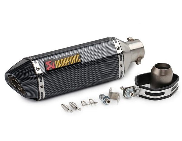 Akrapovic escape moto Modificado Pipe Racing Pit para v strom 125 yamaha fazer 600 f 800 gs