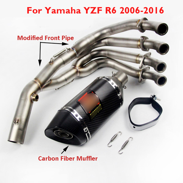 R6 Motorcycle Full Exhaust System Front Link Pipe Muffler Exhaust Pipe Slip On Whole Set For Yamaha YZF-R6 R6 2006-2016