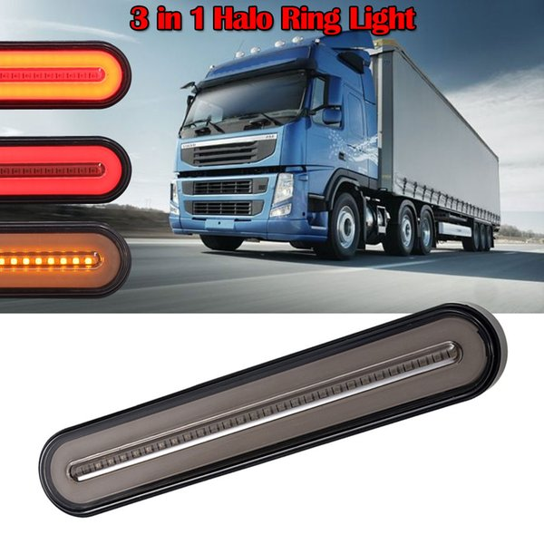 Running Light Brake Light 28 Led Flowing Reverse Stop Brake Turn Signal Rear Tail Truck Trailer Rv Bar Tow Boad Emergency Egress Lighting Emergency