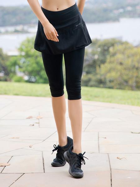 2019 летние женские спортивные леггинсы йога брюки длинные брюки althletic брюки с юбкой высокая талия эластичный скорость бега