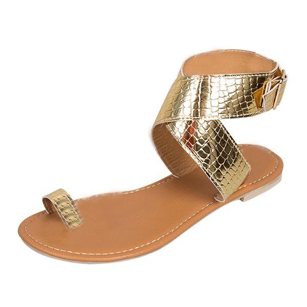 0ec647704 Summer Cross Belt Rome Sandals Women 2019 Fashion Strappy Gladiator Low  Flat Shoes Open Toe Beach