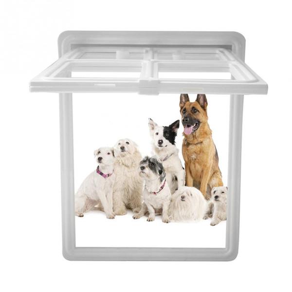 Plastic Pet Dog Puppy Cat Door Magnetic Locking Safe Flap for Screen Window Gate