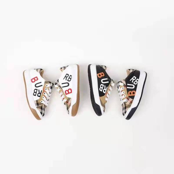 Chid ayakkabı marka ayakkabı erkek tasarımcı bebekler bebek kız moda deri spor koşu sneakers gençlik erkek basketbol sneakers 26-35
