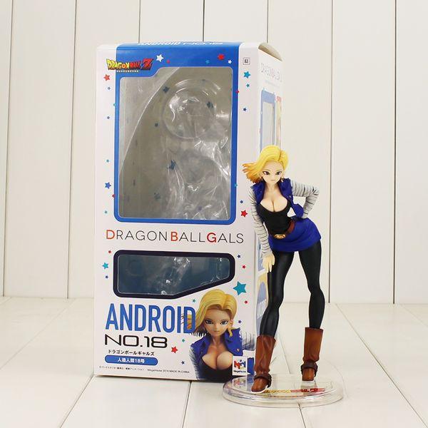 18 cm Anime Figürü Dragon Ball Z Kızlar Gals Android 18 Lazuli Seksi Karikatür PVC Action Figure Koleksiyon Modeli Bebekler oyuncak