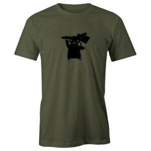 T-shirt 100% coton à manches courtes GSummer A Smile Summer Pikachu pour adulte