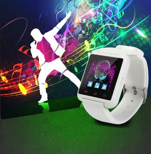 U8 Smart Watch Waterproof Bluetooth Smartwatch Sport Pedometer Wrist Watch For Android iPhone Apples Cell Phone 3 Colors DHL Free Shipping