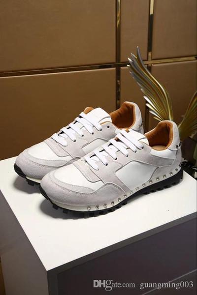 Nouveau Designer Hommes Chaussures Avec Top Qualité Femmes De Luxe Designer Sneaker Homme Casual Ace Chaussures Vert Rouge Rayure hy18032404