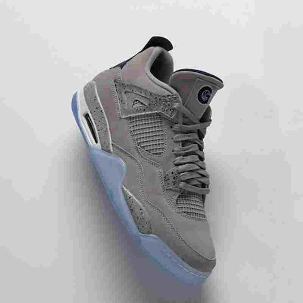 4 s Georgetown PE blau grau Player Edition TOP Factory Version 4 Basketball Schuhe Herren Trainer 2019 Wildleder Sneakers mit Box