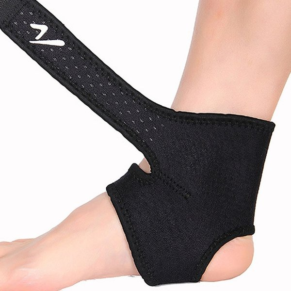 Black Safety Ankle Support Gym Running Protección Black and Red Foot Vendaje Elástico Ankle Brace Band Sport Guard # 654928