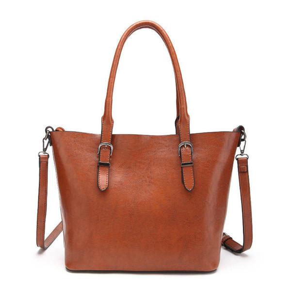 Fashion Large Capacity Women Totes Vinatge Belt Shoulder Bag Simple Style Crossbody Shopping Bags Ipad Bag Durable Work Bag