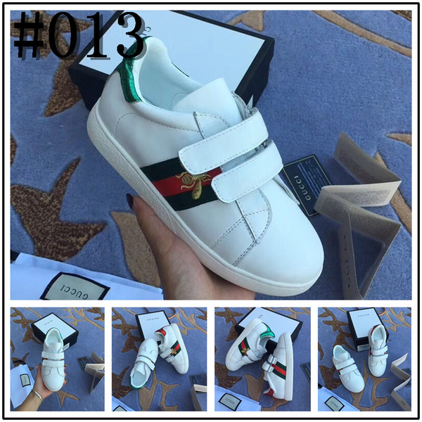 2019 Spring Autumn Kids Casual Shoes Lace-up closure with bee-shaped Casual Shoes For Girls Boys Fashion Sneakers Eur 22-35