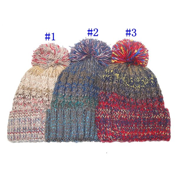 Classic style warm hat in autumn and winter fashion knitted hat warm wool ball hat household party hats MMA2418