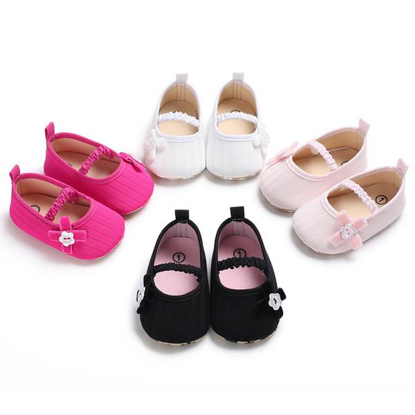 4e4240062 2019 primavera y otoño 0-1 años de edad, niña bebé hilado princesa zapatos