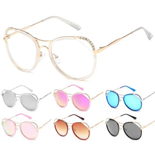 Luxury Design Diamond Women Sunglasses Metal Frame Wrap Gradient Sunglasses Beach Glasses Shade Female Retro Ladies Eyewear