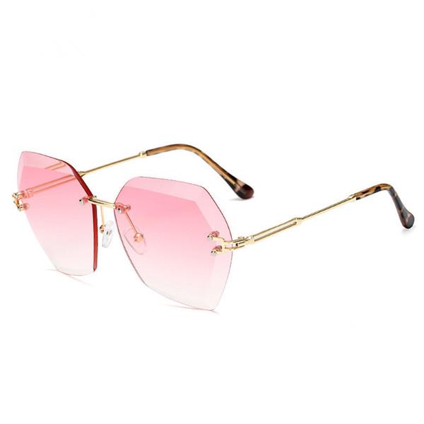 2019 new metal trim polygon fashion sunglasses sunglasses sunglasses
