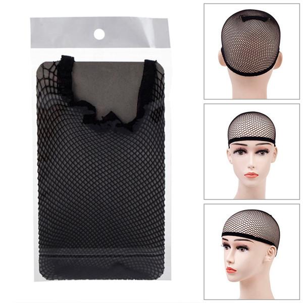 2019 Hair Style Elastic Unisex Stocking Wig Liner Cap Snood Nylon Stretch Weaving Mesh Net Fishnet Ladies Elastic Wig Caps