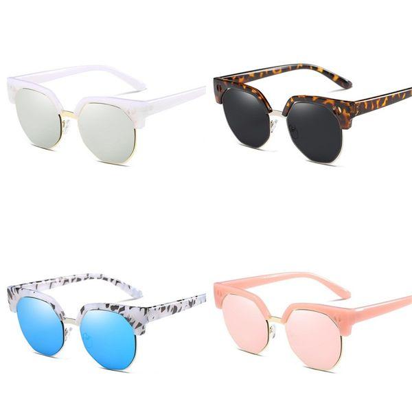 30c8258daee7 Printing Flower Sunglass For Women Sunglasses Plastic Half Frame Eyeglass  Man Female Solid Color Beach Decor 9 9sh D1
