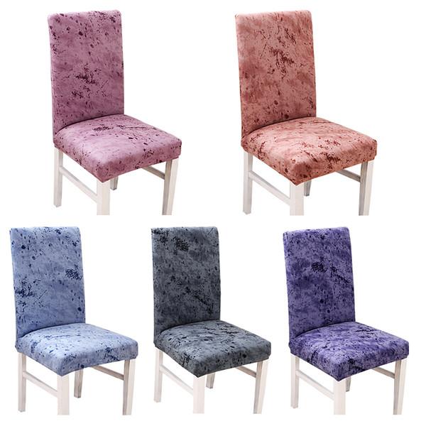 Vintage Spandex Elastic Dining Chair Abdeckung Minimalist Küche Dining Chair Protective Slipcovers für Restaurant Bankett-Dekor