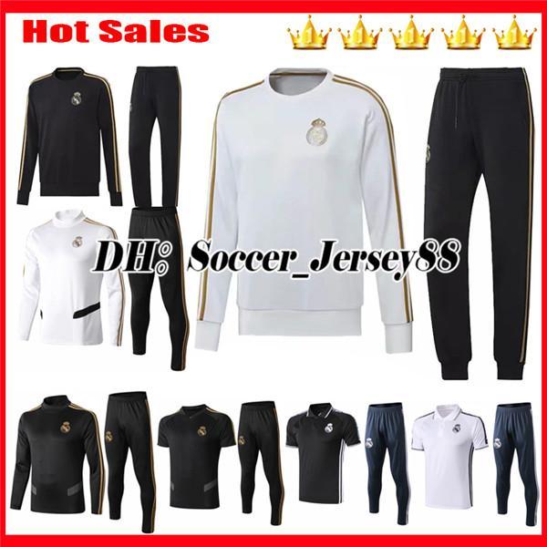 New 2019 2020 HAZARD Real madrid Training suit tracksuit kits Soccer Jersey Survetement BENZEMA MODRIC BALE Jacket kits Football shirts