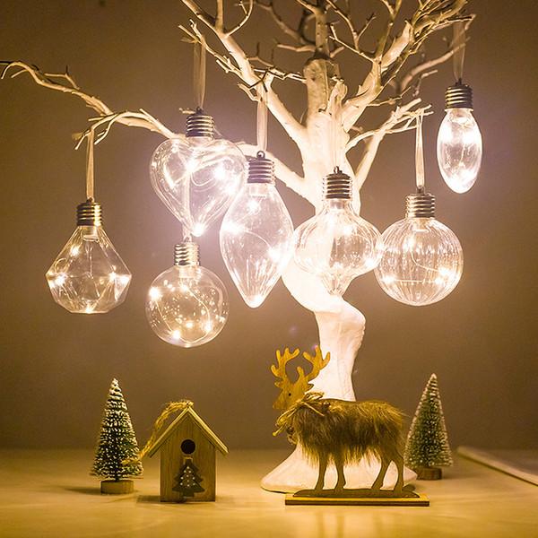 Yılbaşı Ağacı PET Süsler Asma Noel Ampul Topu Ev Partisi düğün Dekorasyon Simülasyon Ampul Aydınlatma kolye