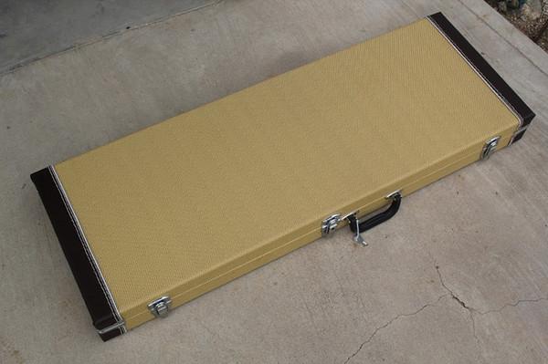 Custodia rigida per chitarra elettrica e basso per chitarra elettrica di rettangolo, colore personalizzato all'interno, offerta personalizzata