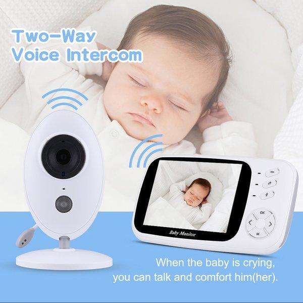 new Wireless Podofo 3.5 Baby Monitor Digital Video Audio Music Portable Camera for Children Nanny Monitor Intercom Temperature Sensor