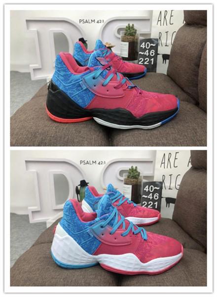 Качество Top Мужская Harden Vol.4 Баскетбольные кроссовки Красный Синий Черный Белый Мужская Дизайнерская обувь Мода Мужской Спорт Chaussures Причинные кроссовки