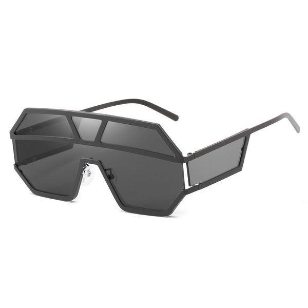 Top Brand designer Sunglasses metal super large retro sunglasses unique flat large piece lens gold and silver frame sunglasses send box