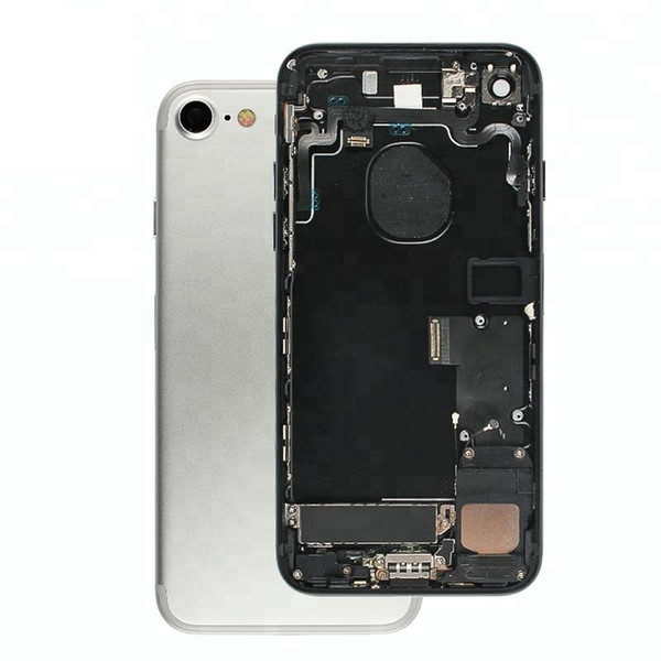 For Phone 8 Full Back Housing OEM Quality with Flex Cable Side Buttons Camera Ring 4.7inch Rear Battery Cover