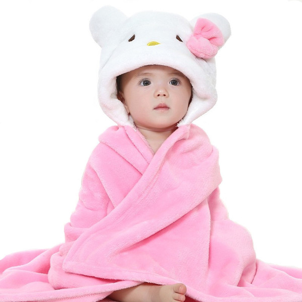 Autumn Boy Girl Towels Cartoon Poncho Hooded Bath Kids Clothes Baby Towel Newborn Blanket Children Bathrobe Wrap Toalha De Banho