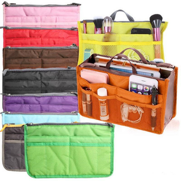 best selling universal tidy Bag Cosmetic bag Pouch Tote Sun dry Bag Organizer Travel Makeup Insert Handbag with OPP Package K154