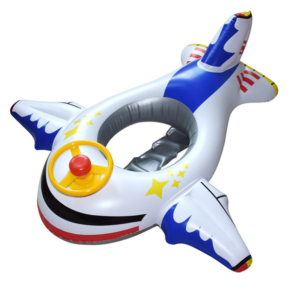 Children's swimming ring thickened inflatable steering wheel floating boat baby aircraft armrest boat rescue ring manufacturers wholesale