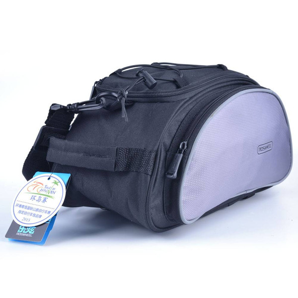 Modern 13L Pack Bicycle Riding 600D Dacron Luggage Bag Panniers 14541 for Outdoors Sport Cycling Black