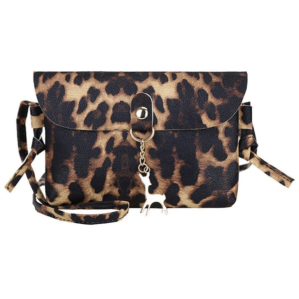 2019 Fashion Plush Leopard Print Shoulder Purse Mini Square Package Shoulder Messenger Bag Cross--body Bag Phone Coin Package