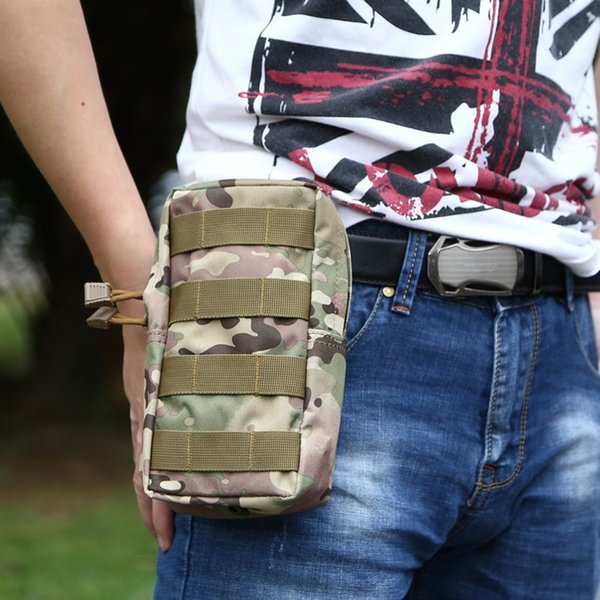 Mini Tactical Kick Pouch MOLLE Durable Mobile Phone Case EDC Molle Pouch Tool Bag Zippered Closure Webbing Waist Pack for Belt #85746