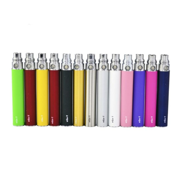 Newest Colorful EGO-T ego t EVOD Vape Battery For 510 Thread CE3 CE4 MT3 MINI Tank Vaporizer Clearomizer Atomizer High Quality DHL Free