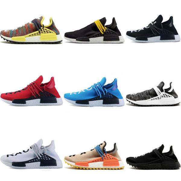 2018 İnsan Yarışı Erkekler Koşu Ayakkabıları Pharrell Williams İnsan Yarışları Williams Erkek Bayan Eğitmenler Spor Sneakers e ...