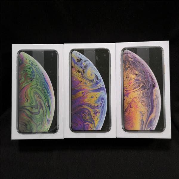 50pcs / lot US EU Versione UK confezione da imballaggio vuota per iPhone Xs xs max senza accessori con adesivo manuale
