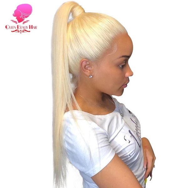 613 Honey Blonde Lace Front Perruque de cheveux humains 8 - 26 pouces Remy Droite Brésilienne 1b 613 Ombre 13x6 Lace Frontale Perruque Avec des cheveux de bébé Y190713