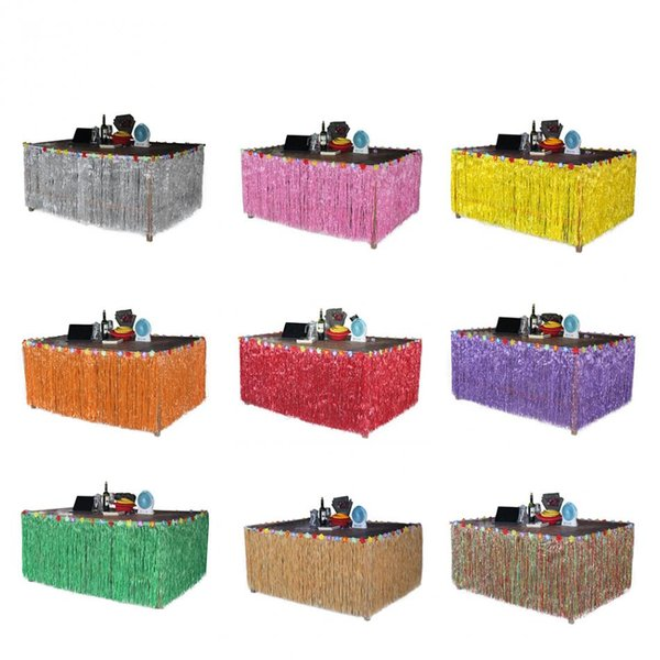 Tulle Table Skirt Tutu Tableware Skirt Party Table Cloth Hawaiian Style Decoration Colorful Wedding Accessory