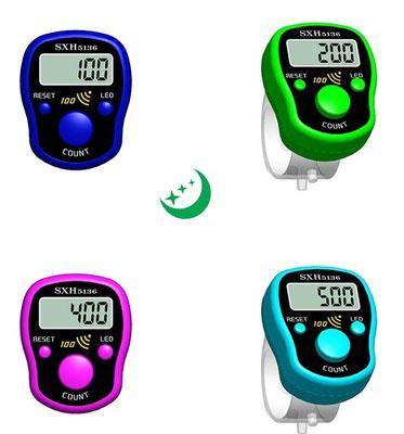 promotional gift Muslim Counter Finger Counters sxh5136 finger counter LED hand tally counters for muslim wholesale